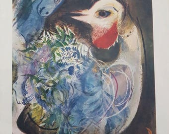 "Marc Chagall ""The feathers in bloom"" Lithograph"