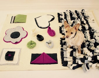 "Luxury Nose Work Mat- Snuffle Mat -Dog Playmat - Dog Blanket  (size 42""x 50.5"")"