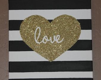 Glitter Love Canvas