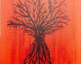 "Tree Painting 8""x12"""