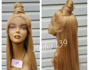 Honey blonde custom colored and made  lace front wig