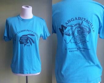 SALE // 1980s Vintage Tee - 80s Mystic River Run T-Shirt - Small / Medium