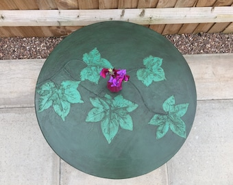 Round vintage coffee table, H Shaw London