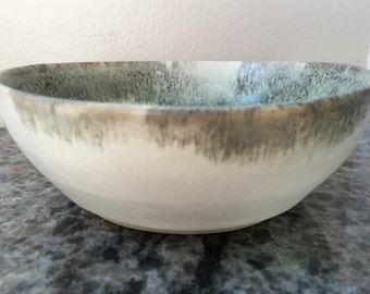 Black and white speckle shell bowl