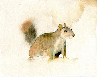 Squirrel, animal painting,original watercolor painting 10x8inch