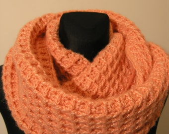 """Infinity scarf for """"wafers lovers"""",thick woollen crocheted scarf,warm scarf,beautiful crochet gift,Christmas gift"""