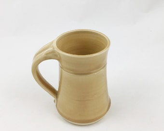 Golden Pottery Mug 10 ounce Handmade by Daisy Friesen