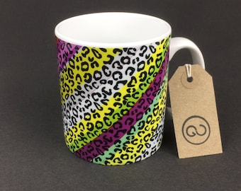 Beautiful, stylish and utterly unique 'CAMO' ceramic coffee mug. By The Good Continuation Design Company.