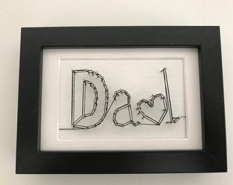 DAD , pin art , string art