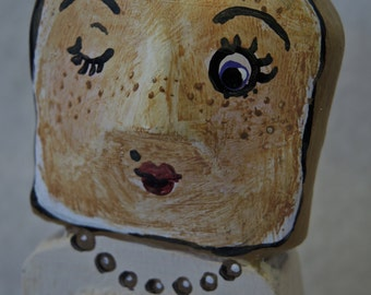 Toast of the Town: a OOAK folk art figure