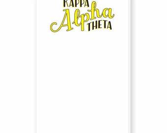 KAPPA ALPHA THETA Hand-Lettered Notepad