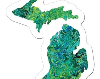 The Mini UnSalted Michigan Art Sticker