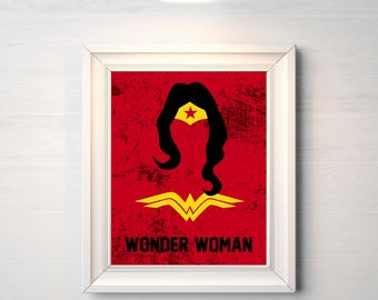 Wonder Woman Poster - Minimalist Poster, 2017, Movie Poster