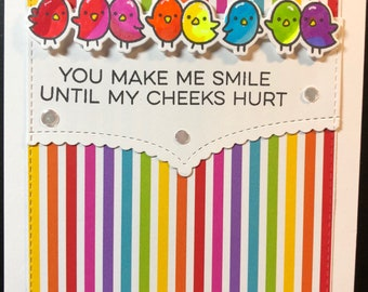hello card, smile card, thinking if you