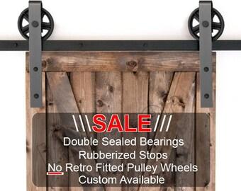 Barn Door Hardware Kit - Spoked Wheel Barn Door- Bearing Barn Door - Custom Barn Door Hardware - Barn Door - Quality Barn Door