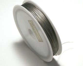 Twisted wire 0.38 mm (reel 100 m), color: steel
