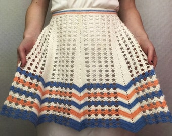 Vintage + Handmade 1950s Crocheted Apron