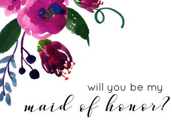 Dahlia Maid of Honor Card