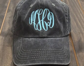 Monogrammed Baseball Hat - Monogrammed Hat - Monogrammed Cap - Monogram Hat - Womens Baseball Hat - Garment Washed Hat