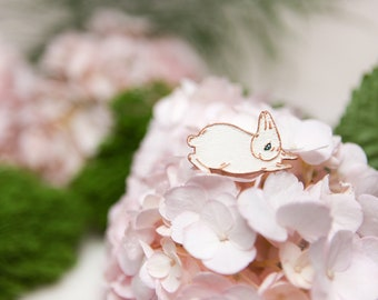 Brooch : To Soar Tenderly (White + Rose Gold)