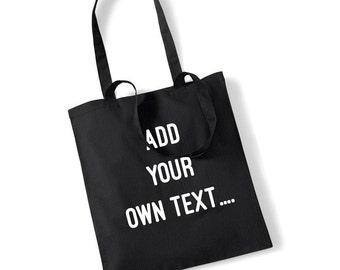 Custom Print Make Your Own Shopping Shopper Hen Do Bachelorette Gift 100% Cotton Bag UK Ships Worldwide