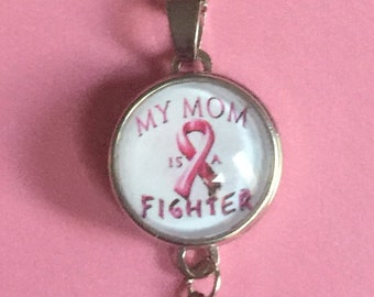 Moms Breast Cancer Necklace