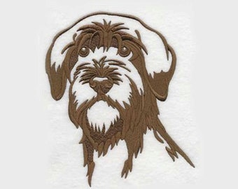 Wirehaired Pointing Griffon Tea Towel | Embroidered Kitchen Towel | Dog Lovers Gifts | Personalized Kitchen Towel | Embroidered Tea Towel