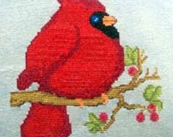 SALE CM Designs Mr Redbird Cross Stitch Pattern