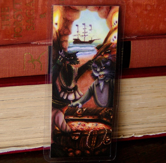 Pirate Cats Treasure Island Bookmark