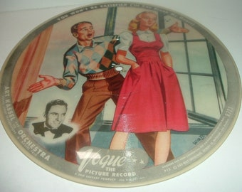 2 Sided Vintage Vogue Picture Record R723 You Won't Be Satisfied and Wave to Me My Lady