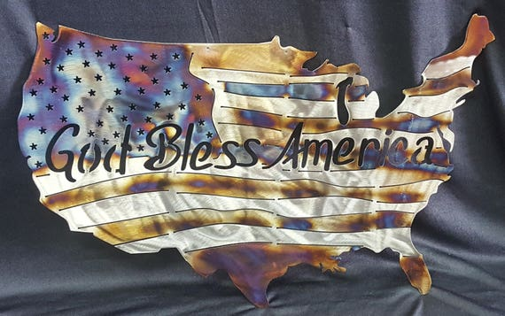 United States American Metal Flag, God Bless America, Metal Flag, Patriotic, Military, US, Independence Day, Stars and Stripes, Memorial Day