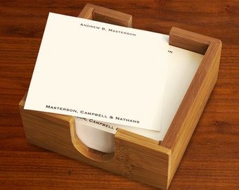 200 Square Memos with Bamboo Holder - 3336MH