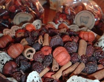 Hips N Stix Mixed Fixins Rose Hips Cinnamon Putkas Potpourri Candles Crafts Naturals Primitive Lodge