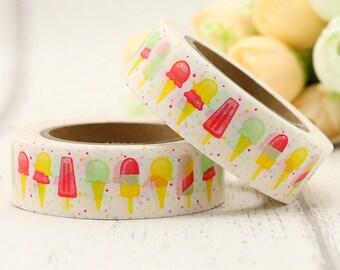 Ice cream washi tape | lollipop masking tape | summer paper tape | ice creams