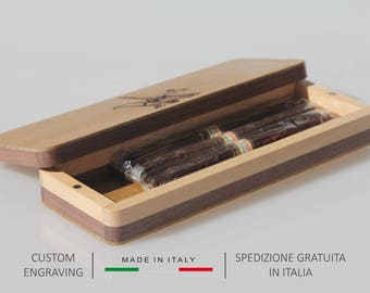 Cigar box,Cigar case,Wood cigar box,Wooden cigar case,Gift for him,Dad's gift,Father's gift,Personalized gift,Birthday gift,Christmas gift