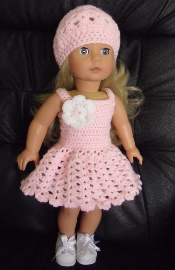 PDF Crochet pattern for summer dress and hat for 18 inch