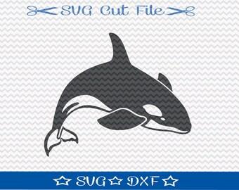 Killer Whale SVG /  Cut File for Silhouette or Cricut / Animal SVG / Orca