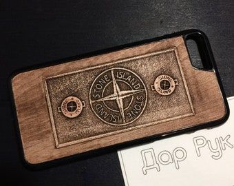 Handmade wood case for any Apple iPhone 4/4S, iPhone 5/5S/SE, iPhone 5C, iPhone 6/6S/Plus, iPhone 7/8/Plus and X, 3D carved personal image