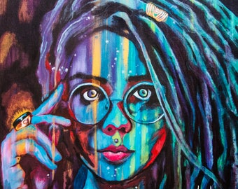 Girl with Dreads ARTWORK PRINT by Carlo Costantino