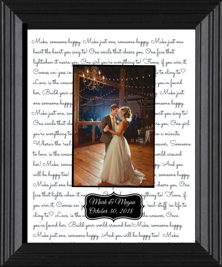 Anniversary Gift For Husband First Dance Wedding Song Lyrics