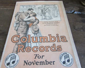 Booklet Columbia Records For November 1917