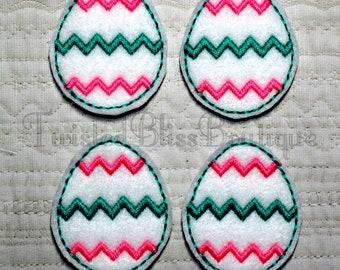 Set Of 4 Easter Egg Felties