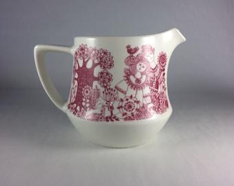 "1970's Vintage Figgjo Flint Milk Pitcher | ""Arden"" Design by Turi Gramstad Oliver | Norway Pottery | Milk Jug"