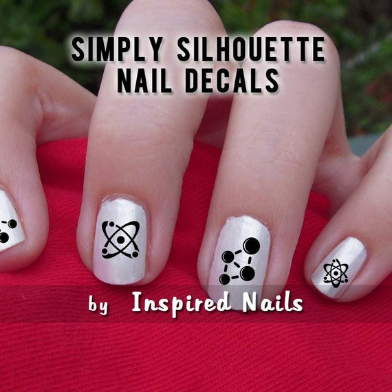 Mad Science Nail Decals Black and Clear Simply Silhouette by