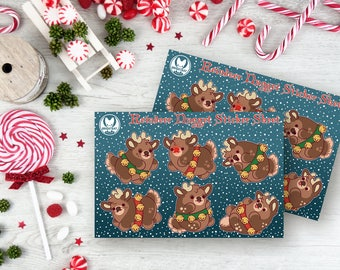 Reindeer Nuggets Christmas Sticker Sheets