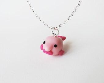 Blobby the Blobfish Charm Necklace