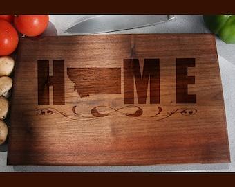 Montana Custom Engraved Cutting Board, Wedding Gift, Home Decor, Anniversary Gift, Bridal Gift, Birthday