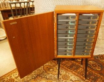 1960's Opticians Cabinet - Vintage - Mid Century Modern