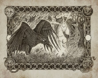 The Ghost and the Raven A3 print