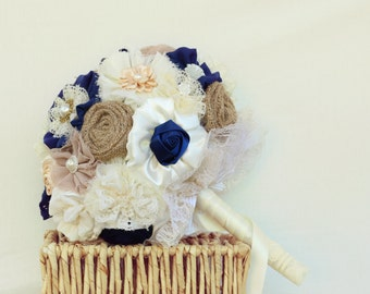 bridal bouquet, bridesmaids bouquets, boutonnieres, wedding wrist corsages, ivory navy bouquet